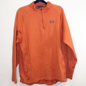 Under Armour half zip pullover pockets orange